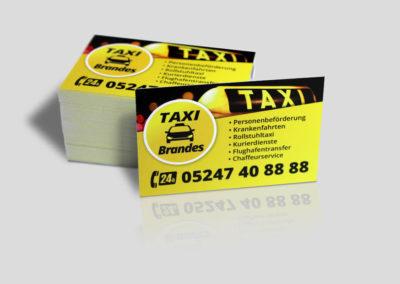 Visitenkarte Taxi Brandes