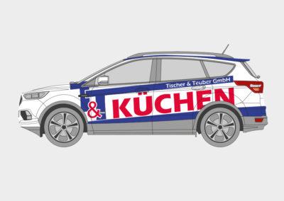 Fahrzeugbeklebung T&T Küchen